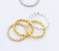 100p Gold Silver Plated Twisted Open Round Ring Jumprings Connector Craft 8-20mm