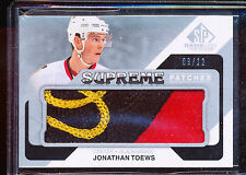 2014-15 SP GU EDITION JONATHAN TOEWS SUPREME PATCHES 9/12 LOGO JERSEY PATCH