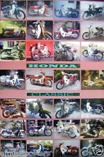 "HONDA ""CLASSIC CHALY-28 MODELS"" MOTORCYCLE POSTER FROM ASIA-CF50,CF70 Motorbike"