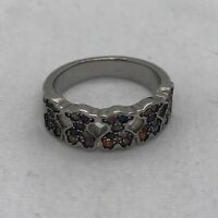 TOUS FANTASY Ring Sterling Silver With Multicolored Sapphires C313675580 Size 50