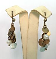 NEW HULTQUIST GOLD PLATED EARRINGS PEARLS DELICATE SMALL GOLD PLATES STONE LAST