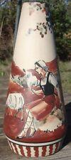-Céramique Vase en Grès de Ciboure décoré par Carmen Fischer