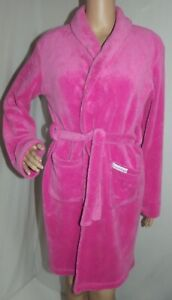 Calvin Klein 14/16 Pink Soft & Cozy Plush Short Belted Robe l sleepwear
