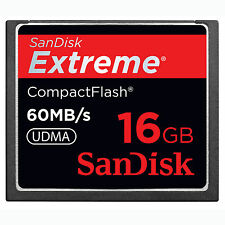 16GB SanDisk Extreme CompactFlash CF Card 60MB/S SDCFX-016G For CANON NIKON DSLR
