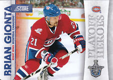 10/11 SCORE PLAYOFF HEROES STANLEY CUP #20 BRIAN GIONTA CANADIENS *9022