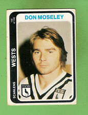 1979  WESTERN SUBURBS MAGPIES RUGBY LEAGUE CARD #156  DON MOSELEY