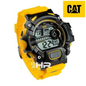 Men's Caterpillar CAT 45mm Black Yellow Watch 1A.167.27.241
