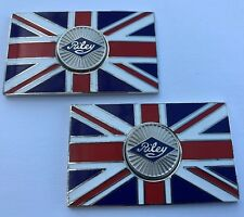 Auto Mascot British Union Jack Flag Enamel Kings Crown Classic Car Badge Badges & Mascots