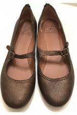 Lucky Brand Esmie Flats Shoes Women Mary Jane Brown Metallic Bronze Size 10M