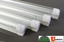 4x 4ft 20watt integrated work shop Clear LED Tube with 6ft Power cable Switch