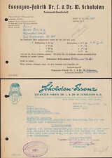 BERLIN N 113, 2 Belege 1962/63, Essenzen-Fabrik Dr. L. & Dr. W. Scholvien KG