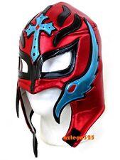 Rey Mysterio Adult Lucha Libre Wrestling Mask - Red/Light Blue
