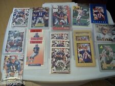 56 DREW BLEDSOE NEW ENGLAND PATRIOTS FOOTBALL CARD LOT INSERTS RARE PREVIEW L@@K