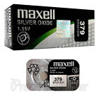 2 x Maxell 379 Silver Oxide batteries 1.55V SR521SW V379 D379 Watches 0% Mercury