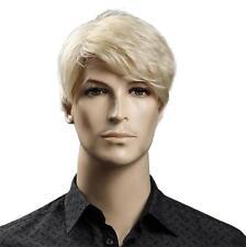 Men's Short Blonde Hair Wig Wig Male Full Wigs Cool Mens Blonde Wigs 2017