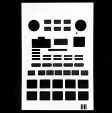Blank white overlay card for the Boss SP202 Portable Sampler (byNovalays)