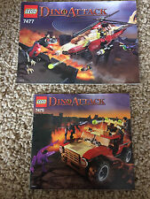 2 Lego Dino Attack Manuals Instructions ONLY 7477 7475 Lot #1 HTF nice used
