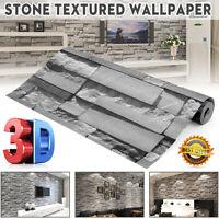 10M 3D Wall Paper Rolls Brick Stone 32.8FT Modern Wall Sticker Decor Background