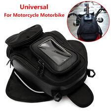 Magnetic Motorcycle Motorbike Oil Fuel Tank Bag Black Luggage Pouch Waterproof