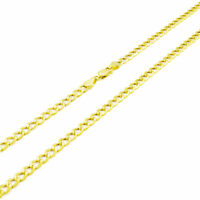 """REAL 14K Yellow Gold Pure 3.5MM 30in Cuban Curb Link Chain Pendant Necklace- 30"""""""