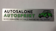 Adesivo Sticker AUTOSALONE AUTOSPRINT Sesto Fiorentino (FI) cm 14 x 3,5 circa