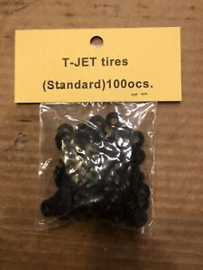 compatible with Aurora slot car Thunderjet Tires skinny silicone compound 100pc