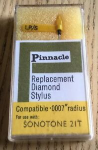 Pinnacle SONOTONE 21T REPLACEMENT STYLUS NEEDLE Turntable Record Player NOS NEW