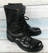 CORCORAN Black Leather Military Lace-up Combat Boots Size 10.5 D