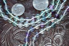 Healing Mala Beads - Fluorite Hand Knotted Necklace - Removes Stress Negativity