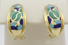 Na Hoku Hawaiian 14k Yellow Gold & Multi-Stone Ladies Earrings
