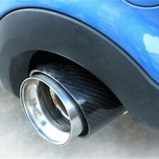 1x Premium Endrohr in Schwarz Auspuff Original Qualität 66-72mm viele Fahrzeuge