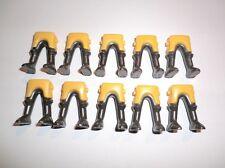 Playmobil 10 CHEVALIER JAMBES NEUVE Variante jaune/anthracite V3
