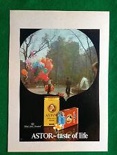 SF6 Pubblicità Advertising Werbung Clipping - ASTOR SIGARETTE CIGARETTES