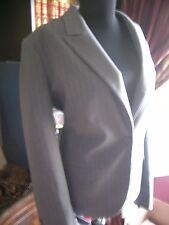 NWT New York and Company Jacket Blazer 12 Gray Pinstripe Spandex Stretch Lined