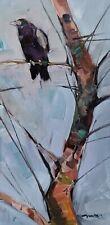JOSE TRUJILLO Oil Painting 12X24 RAVEN IMPRESSIONISM CONTEMPORARY ORIGINAL ART