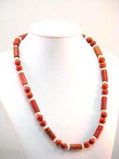 Collier Schaumkoralle Halskette mit Perlen 70er Jahre