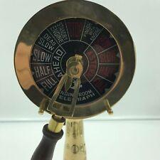 "Antique Brass Ship's Engine Order Telegraph 16"" Nautical Decorative Collectible"