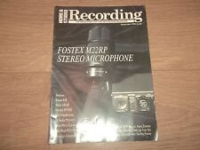 HOME & STUDIO RECORDING MAGAZINE SEPTEMBER 1989 HANS ZIMMER PASCAL GABRIEL
