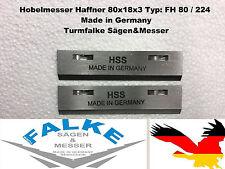 2 Stück Hobelmesser Haffner 80x18x3 Typ: FH 80 / 224