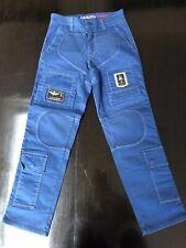 NWOT Junior Aeronautica Militare Boys Navy Cargo Pants Trousers 12Y