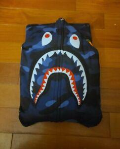 Bape WGM Shark Hoodie Blue Camo Size XXL (READ DESCRIPTION)