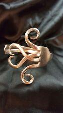 Silver Fork Bracelet bangle Handmade vtg heart spoon valentine cuff