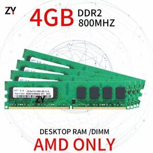 For Samsung 16GB 4x 4GB 2GB 1GB DDR2 PC2-6400U 800MHz PC AMD Computer Memory Lot