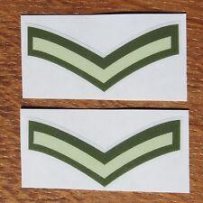 Two British Army Rank Lance Corporal LCpl L/Cpl Vinyl Sticker Stripe Decal 5cm