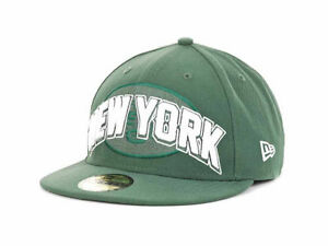 New Era NFL New York Jets Green Draft Hat 59Fifty Fitted Kids Cap Hat size 6 3/4