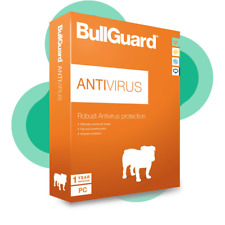 BullGuard Antivirus Protection 2018 - 12 Month- 3 Devices Windows 10 , 8 , 7, XP