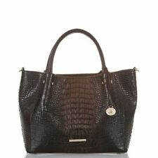 Brahmin Mallory Sparrow Cocoa  Leather Bag shoulder Purse New