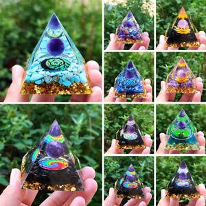 Amethyst Crystal Sphere Orgonite Pyramid Obsidian Chakra Energy Orgone Stone AU