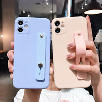 Liquid Hand Strap Soft Silicone Phone Case Cover Shell For iPhone 11 Pro Max
