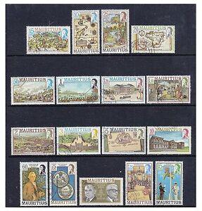 Mauritius - 1978,15c - 25r Set (Weniger 35c,70c,90c) - Gebraucht - Sg 529A/548A